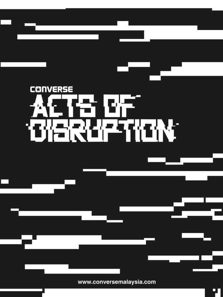 Converse Acts Of Disruption Tour May - June 2012