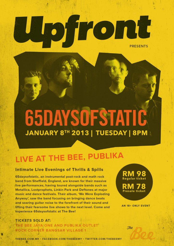 65Daysofstatic live in Kuala Lumpur