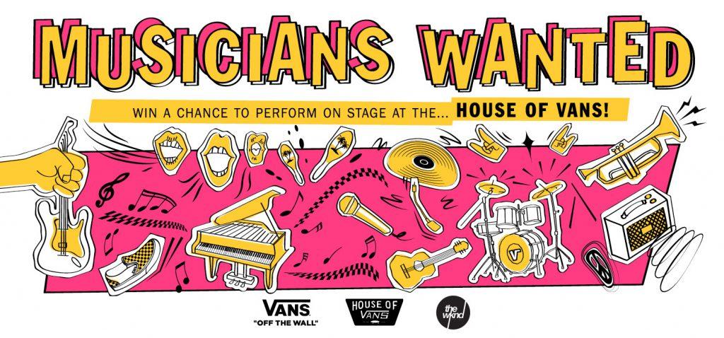 Vans Musicians Wanted 2018